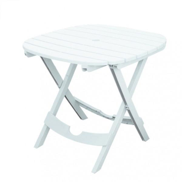 Table de jardin blanche pliable lot sans chaises - Table plastique jardin ...