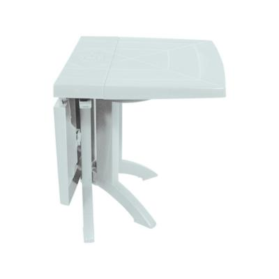 Table rectangulaire de jardin 160x110 cm - Pliable - Blanc