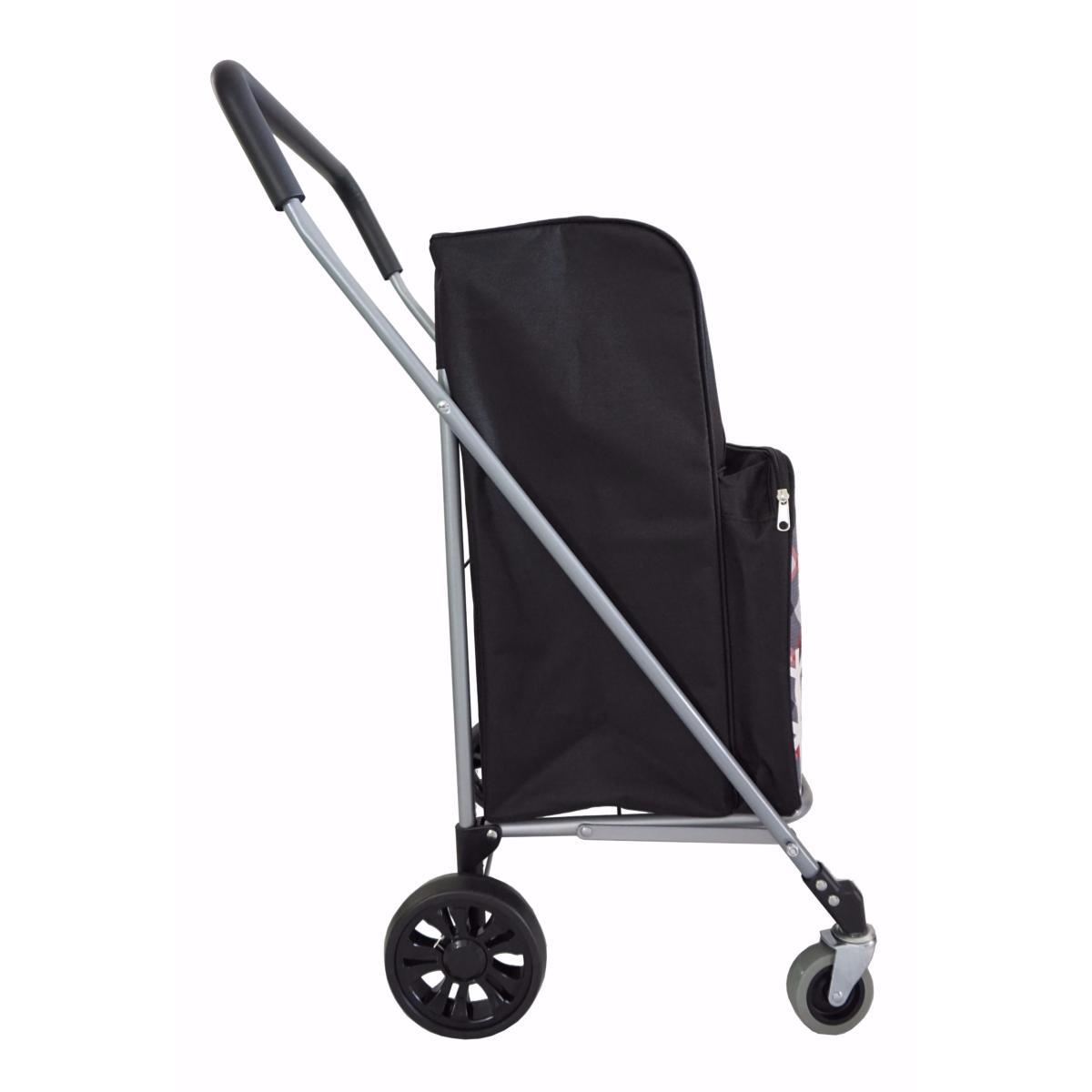 chariot de courses 4 roues pliable bo time poche avant isotherme int gr e grande capacit 63l. Black Bedroom Furniture Sets. Home Design Ideas