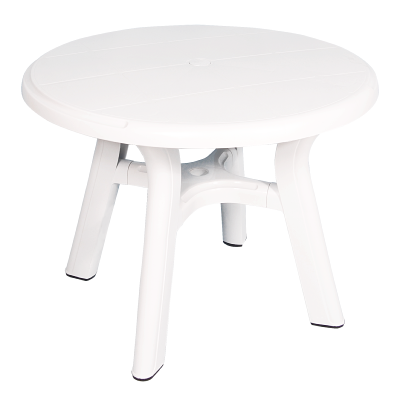 table ronde de jardin en plastique diam tre 95 cm blanc. Black Bedroom Furniture Sets. Home Design Ideas