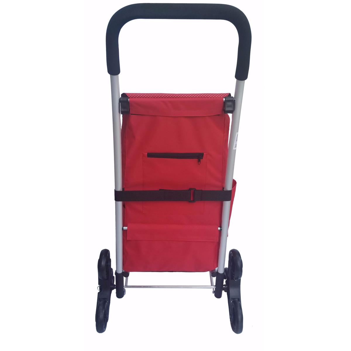 chariot de courses monte escalier 6 roues bo time capacit 233 52l