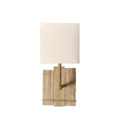 Lampe Applique Murale En Bois De Dune Tige En Cordage Fabrique A