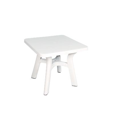Table carrée de jardin blanche 80x80 cm en plastique