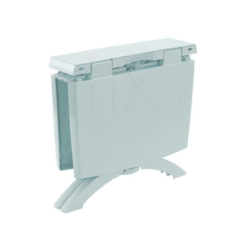 table rectangulaire de jardin 160x110 cm pliable blanc. Black Bedroom Furniture Sets. Home Design Ideas