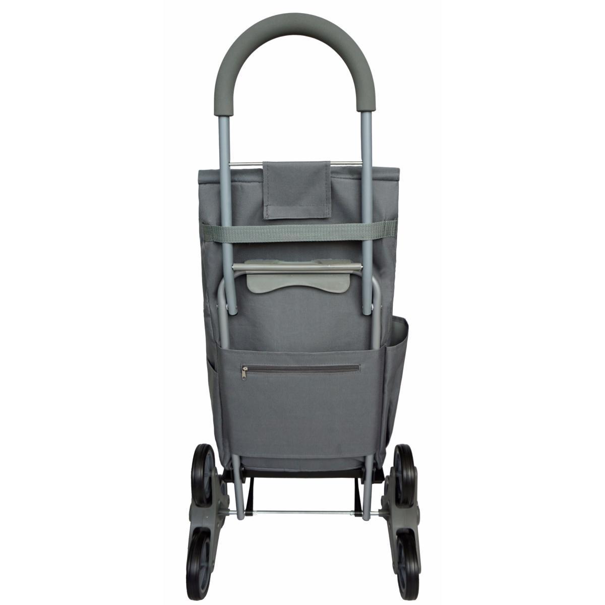 chariot de courses monte escalier bo time double utilisation capacit 40l. Black Bedroom Furniture Sets. Home Design Ideas